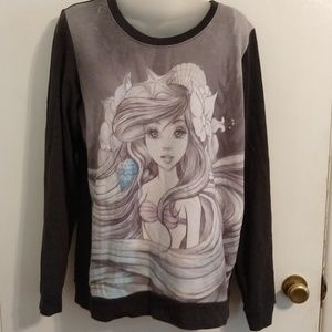 Little Mermaid Ariel Disney Long Sleeve T-Shirt L